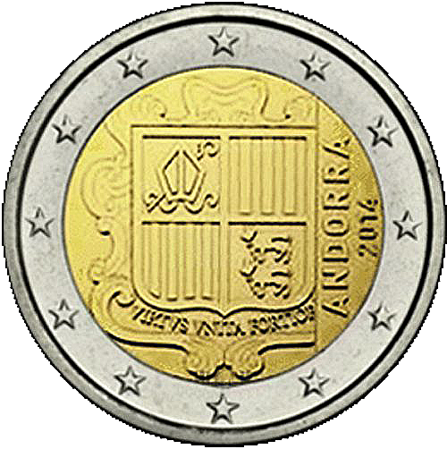 euro coins andorra 2 euro 2014 the black scorpion. Black Bedroom Furniture Sets. Home Design Ideas