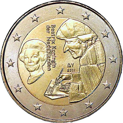 euro coins netherlands 2 euro 2011 commemorative. Black Bedroom Furniture Sets. Home Design Ideas