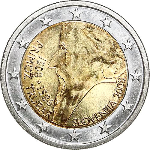 euro coins slovenia 2 euro 2008 commemorative yuribs. Black Bedroom Furniture Sets. Home Design Ideas