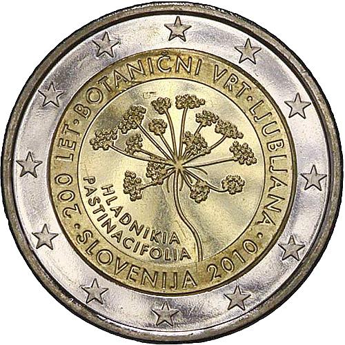 euro coins slovenia 2 euro 2010 commemorative yuribs. Black Bedroom Furniture Sets. Home Design Ideas