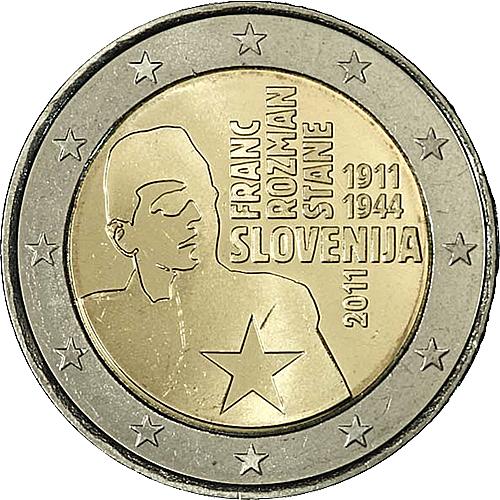 euro coins slovenia 2 euro 2011 commemorative yuribs. Black Bedroom Furniture Sets. Home Design Ideas